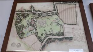 Historische Karte der Désert de Retz, Follie des 18. Jh., Yvelines