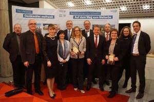 Die Podiumsgäste, Vertreter des Schweriner Landtags und Schlossvereins