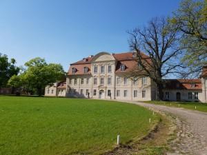 La façade baroque restaurée du château de Kummerow © B. de Cosnac