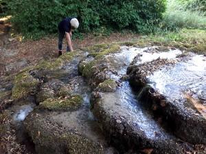 Le jardinier et la cascade@B.de Cosnac