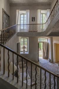 Historisches französisches Schloss-Treppenhaus © Agence Patrice Besse